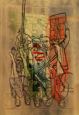 23.33cm,mixed media,The fall of Persian crown,2012