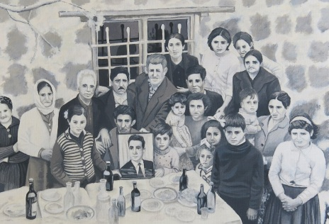 Armenian family,2014,Acrylic on paper,27.18cm_small