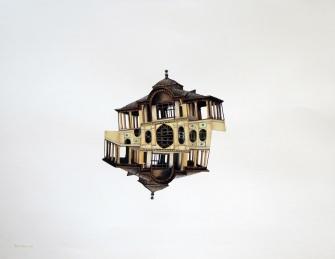 Eshrat Abad palace (Acrylic on paper, 50 x 65cm)