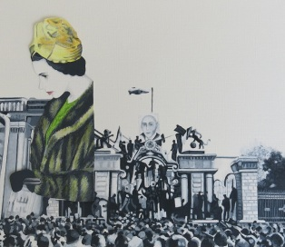 The Queen&The Parlement,2014,Acrylic on paper,28.24cm_small
