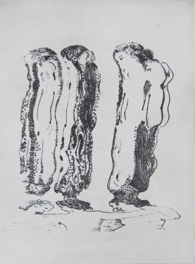 The Three Graces, engraving on copper plate, 15x20cm