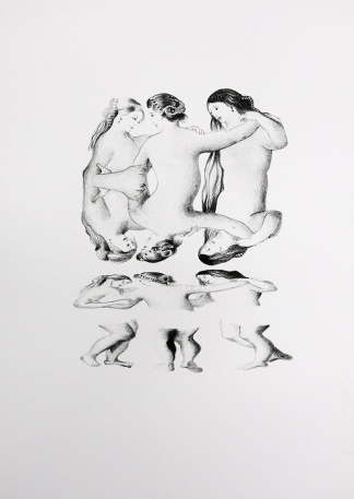 The Three Graces, lithography, 28x38cm