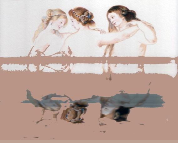 The Three Graces, digital print, 90x108cm