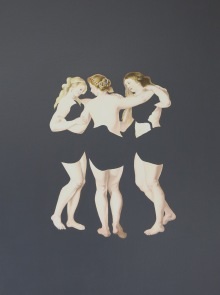 00-Bahar Taheri, The Three Graces , 2016, Acrylic on paper, 32x41 cm