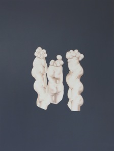02-Bahar Taheri, The Three Graces 2016, Acrylic on paper, 32x41 cm